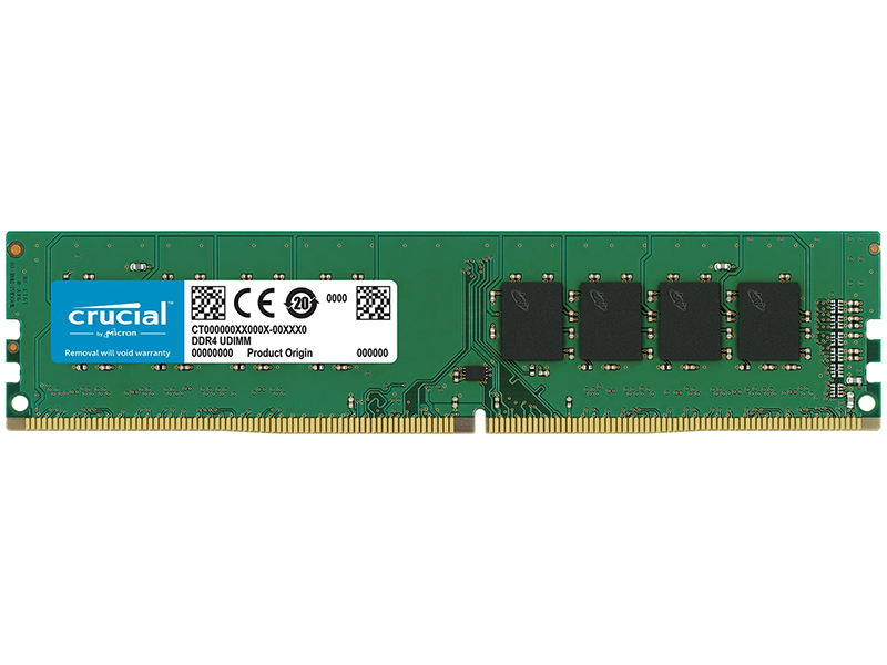 Модуль памяти Crucial DDR4 DIMM 2666MHz PC4-21300 CL19 - 16Gb CT16G4DFD8266 цена