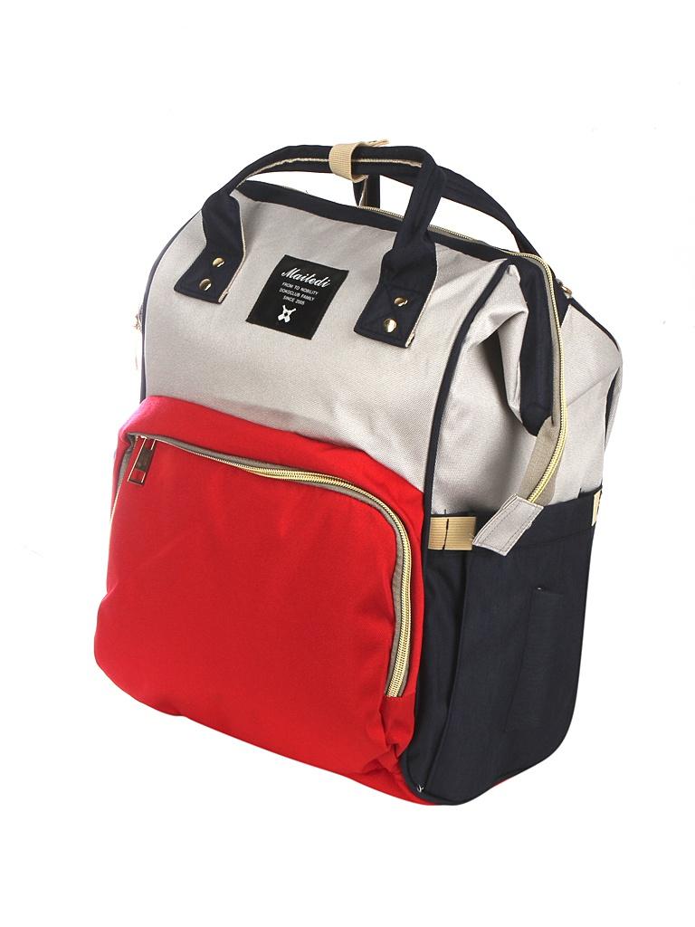Рюкзак-сумка для мамы и малыша Veila Beige-Red