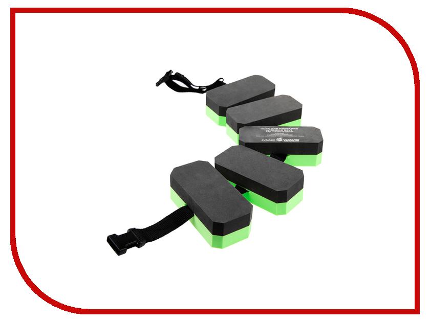 Пояс для обучения плаванию Mad Wave Black-Green M0825 55 0 00W ласты для брасса mad wave positive drive 28 32 green black m0741 01 1 00w
