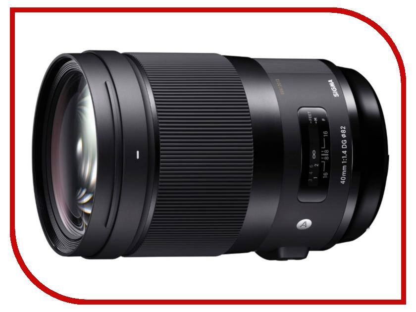 Объектив Sigma 40mm f/1.4 DG HSM Art Canon EF объектив canon ef s is stm 1620c005 18 55мм f 4 5 6 черный