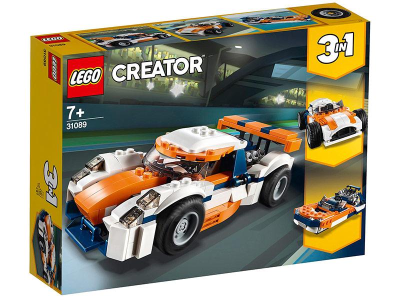 Конструктор Lego Оранжевый гоночный автомобиль 221 дет. 31089 цена