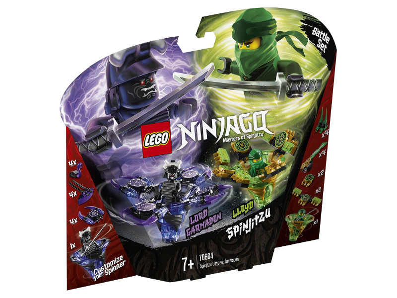 Конструктор Lego Ninjago Ллойд мастер Кружитцу против Гармадона 208 дет. 70664 lego ninjago битва гармадона и мастера ву 70608