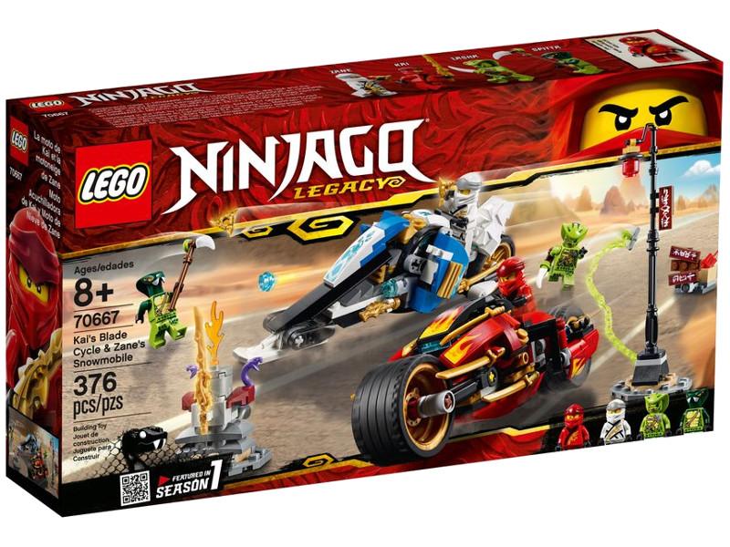 Конструктор Lego Ninjago Мотоцикл-клинок Кая и снегоход Зейна 376 дет. 70667