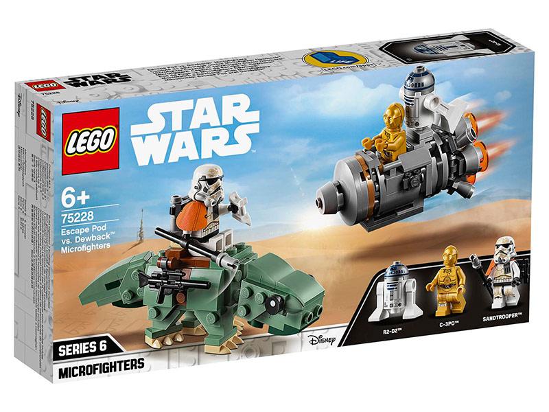 Конструктор Lego Star Wars Спасательная капсула дроидов и штурмовик на дьюбеке 177 дет. 75228