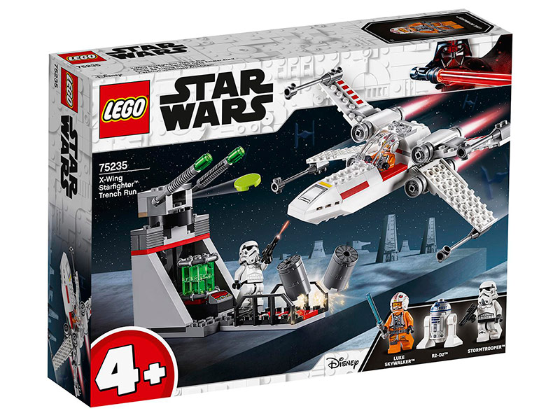 Конструктор Lego Star Wars Атака истребителя X-Wing 132 дет. 75235