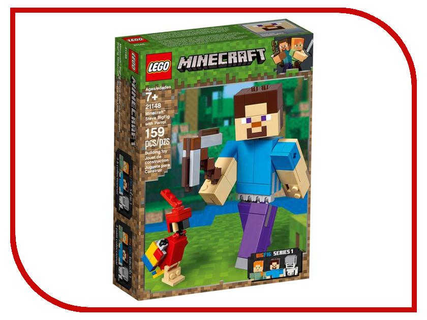 Конструктор Lego Minecraft Стив с попугаем 159 дет. 21148 конструктор ogosport bits hitch 20 дет og0601