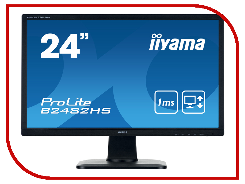 Монитор Iiyama ProLite B2482HS-B1 Black монитор iiyama b2482hs b1