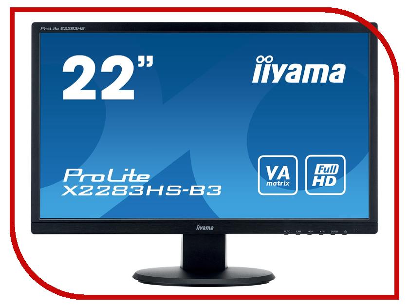 Монитор Iiyama X2283HS-B3 Black iiyama g master gb2488hsu b3 black монитор