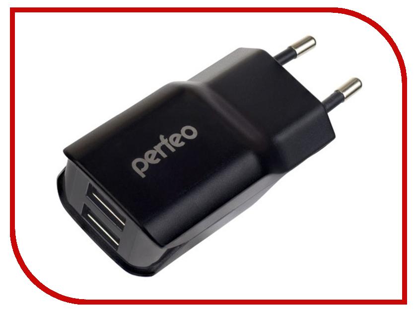 Зарядное устройство Perfeo U2lite 2xUSB 2.1А Black PF-A4131