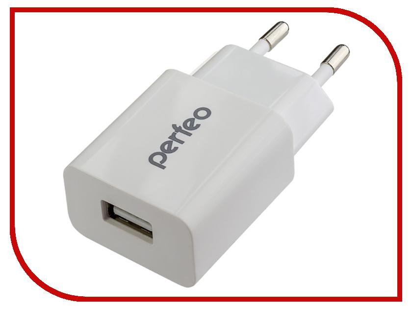 Фото - Зарядное устройство Perfeo Cube 1 2.1А White PF-A4128 perfeo сетевое зарядное устройство с разъемом usb 2 1а белый cube 1 pf a4128