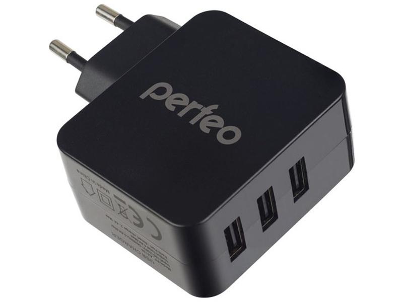 Зарядное устройство Perfeo Cube 3 3xUSB 4.8А Black PF-A4135 perfeo base pf bas vlt violet