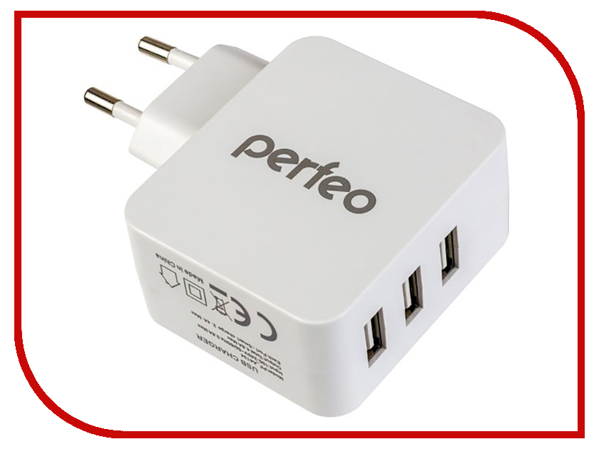 Зарядное устройство Perfeo Cube 3 3xUSB 4.8А White PF-A4134 cube printer gen 3 white