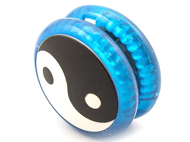 Йо-Йо Эврика Волчок на шнуре Инь Янь Blue 99057 цена