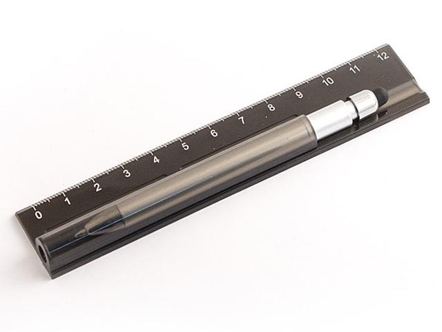 Линейка с ручкой Эврика №1 Black 98596