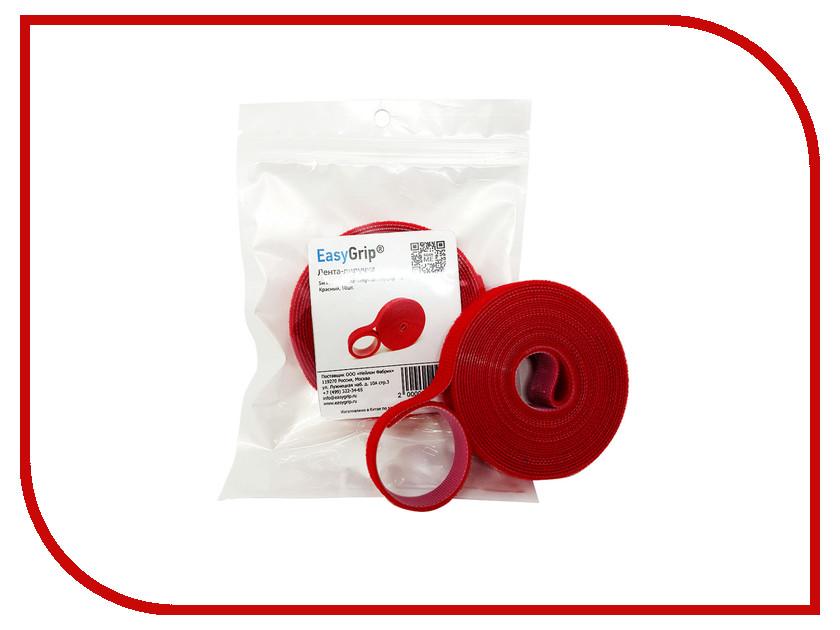 Лента-липучка EasyGrip RL 5mx16mm Red хомут липучка easygrip l 180x15mm 10шт red green blue yellow black