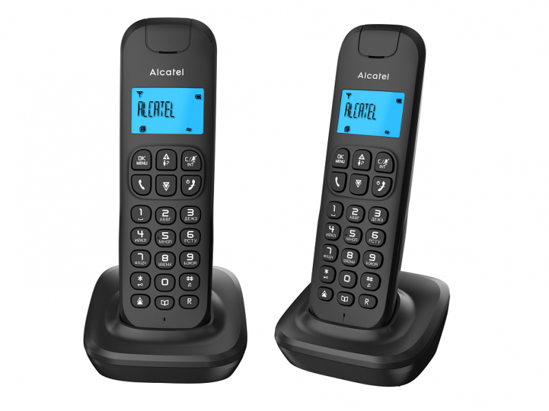 Радиотелефон Alcatel E132 Duo Black радиотелефон philips d1401b 51 black