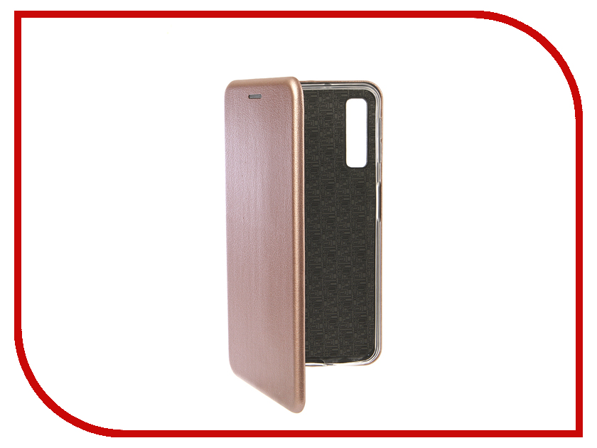Аксессуар Чехол для Samsung Galaxy A7 2018 Innovation Book Silicone Magnetic Rose Gold 13330 цена и фото