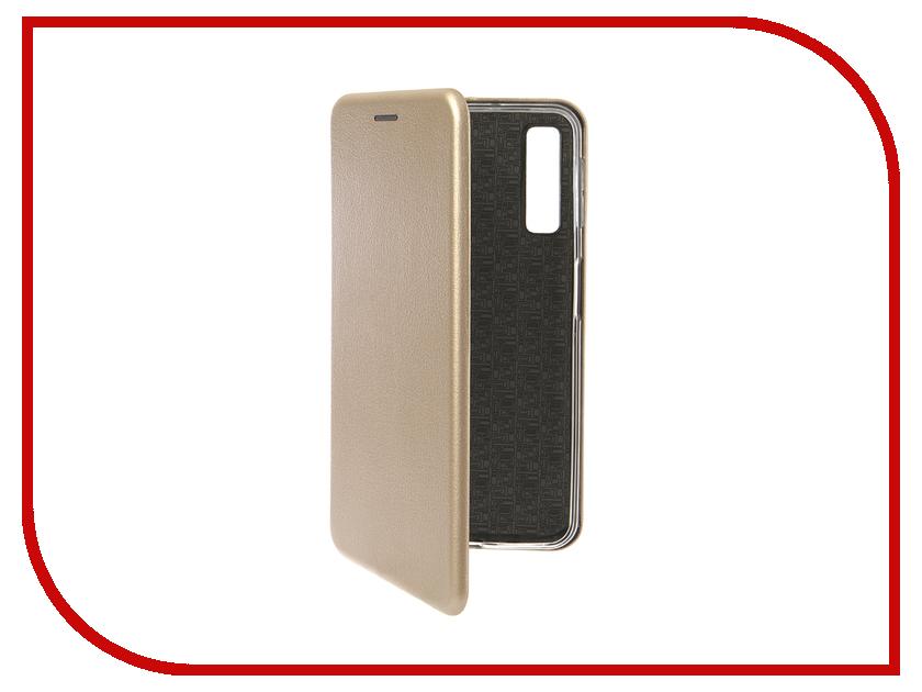 Аксессуар Чехол для Samsung Galaxy A7 2018 Innovation Book Silicone Magnetic Gold 13331 аксессуар чехол для samsung galaxy j2 2018 innovation book gold 11961