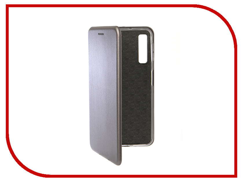 Аксессуар Чехол для Samsung Galaxy A7 2018 Innovation Book Silicone Magnetic Silver 13333 цена и фото