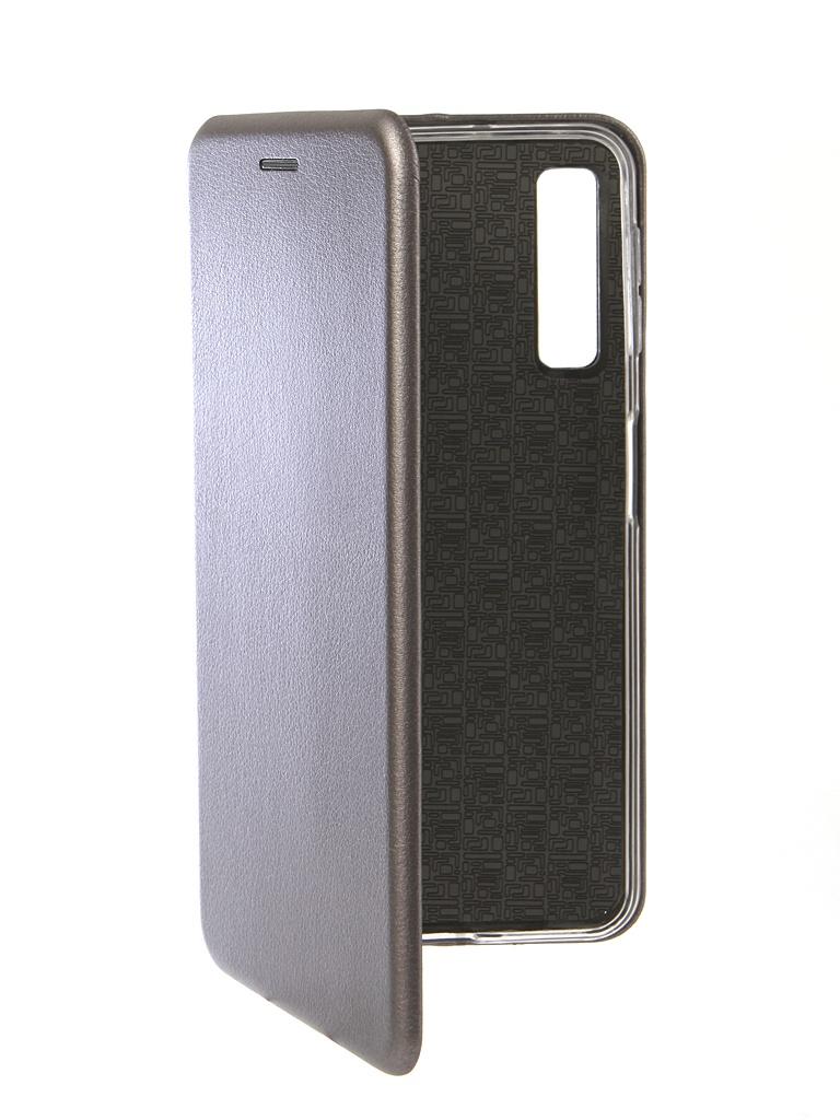Чехол Innovation для Samsung Galaxy A7 2018 Book Silicone Magnetic Silver 13333 фото