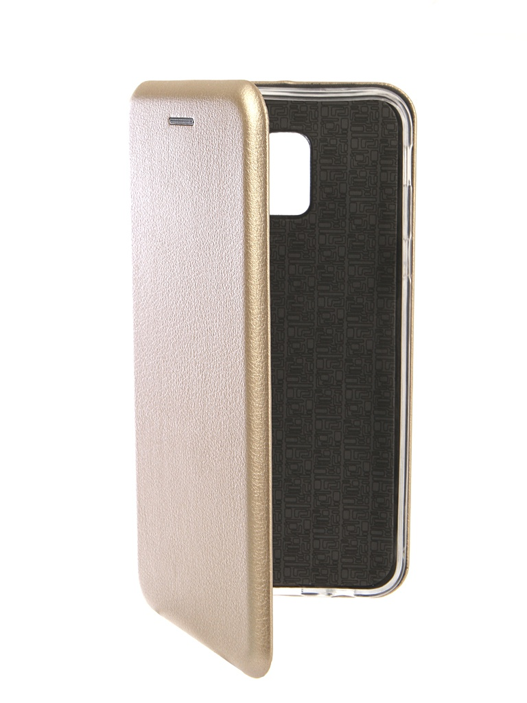 Чехол Innovation для Samsung Galaxy J6 2018 Book Silicone Magnetic Gold 13335
