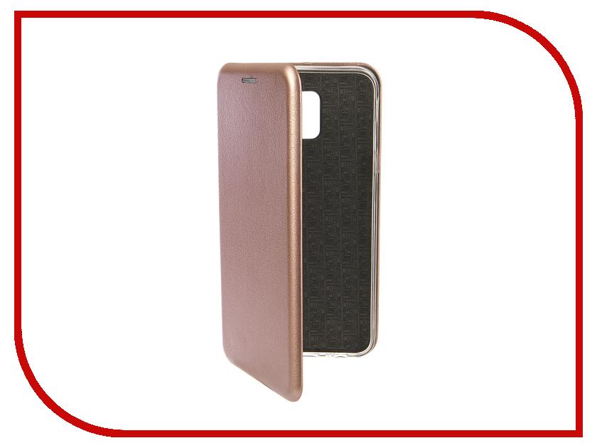 Аксессуар Чехол для Samsung Galaxy J6 2018 Innovation Book Silicone Magnetic Rose Gold 13336 аксессуар чехол для samsung galaxy j2 2018 innovation book gold 11961