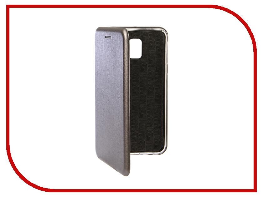 Купить Аксессуар Чехол для Samsung Galaxy J6 2018 Innovation Book Silicone Magnetic Silver 13337