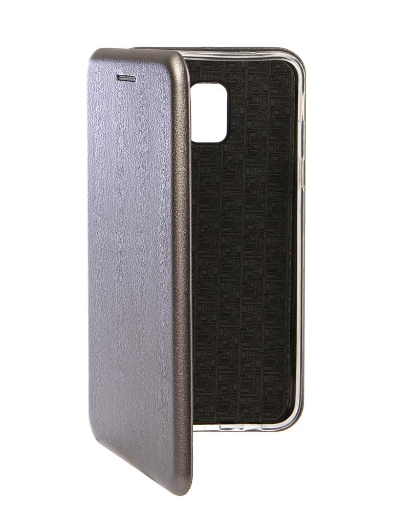 Чехол Innovation для Samsung Galaxy J6 2018 Book Silicone Magnetic Silver 13337
