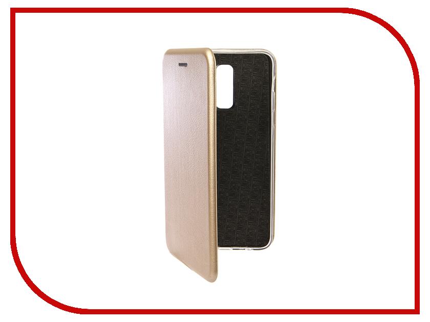 Аксессуар Чехол для Samsung Galaxy J8 2018 Innovation Book Silicone Magnetic Gold 13340 аксессуар чехол для samsung galaxy j2 2018 innovation book gold 11961