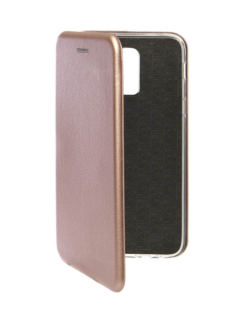Чехол Innovation для Samsung Galaxy J8 2018 Book Silicone Magnetic Rose Gold 13341 фото