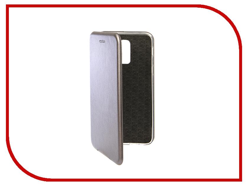Аксессуар Чехол для Samsung Galaxy J8 2018 Innovation Book Silicone Magnetic Silver 13343 аксессуар противоударное стекло для samsung galaxy j8 2018 innovation 2d full glue cover gold 12814