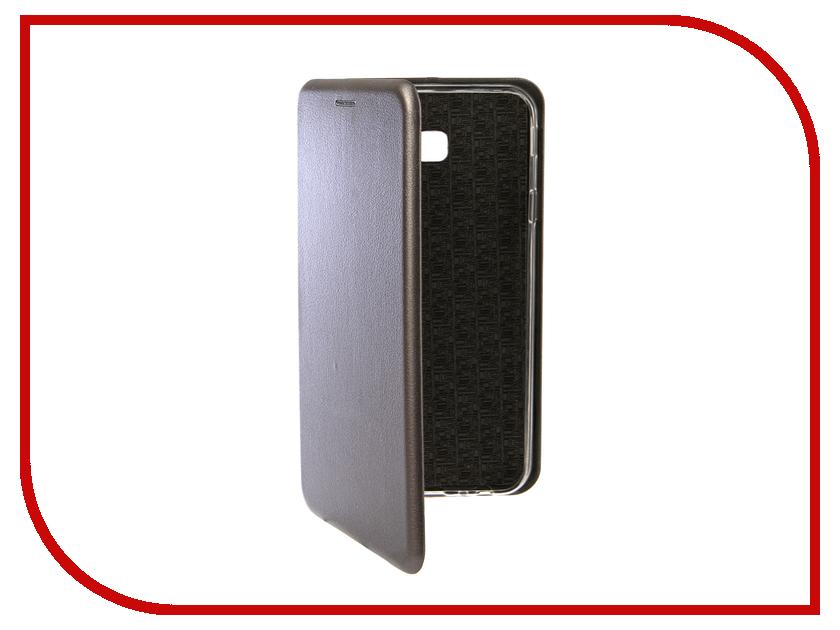 Купить Аксессуар Чехол для Samsung Galaxy J4 Plus 2018 Innovation Book Silicone Magnetic Silver 13347