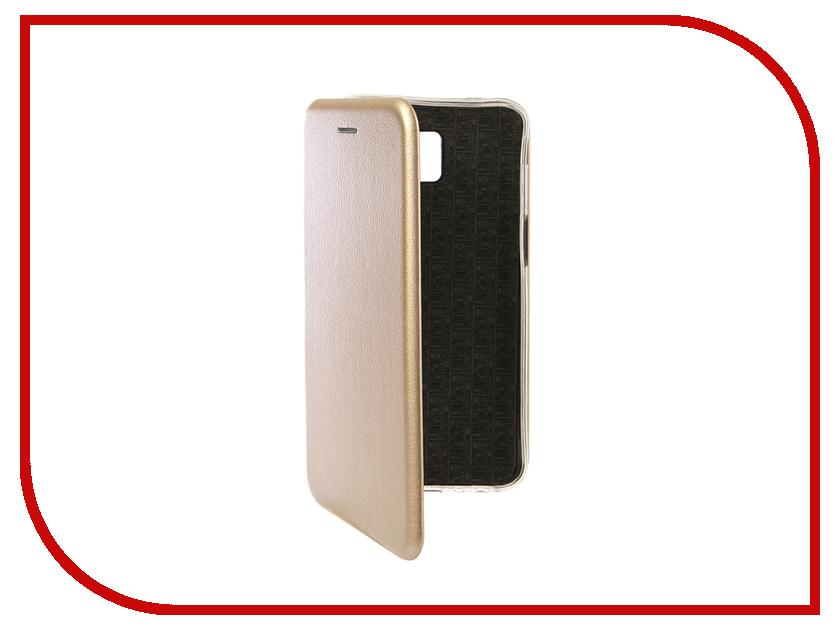 Аксессуар Чехол для Samsung Galaxy J6 Plus 2018 Innovation Book Silicone Magnetic Gold 13351 аксессуар чехол книга для samsung galaxy a6 plus 2018 innovation book silicone gold 12450