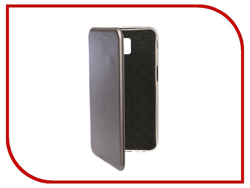 Купить Аксессуар Чехол для Samsung Galaxy J6 Plus 2018 Innovation Book Silicone Magnetic Silver 13353