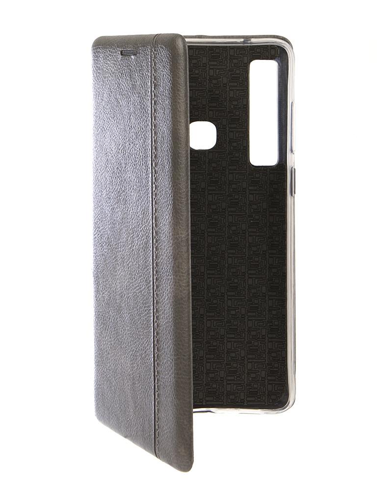 Чехол Innovation для Samsung Galaxy A9 2018 Book Silicone Magnetic Silver 13357
