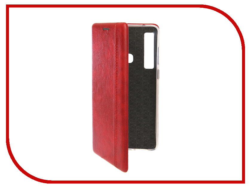 Аксессуар Чехол для Samsung Galaxy A9 2018 Innovation Book Silicone Magnetic Red 13359