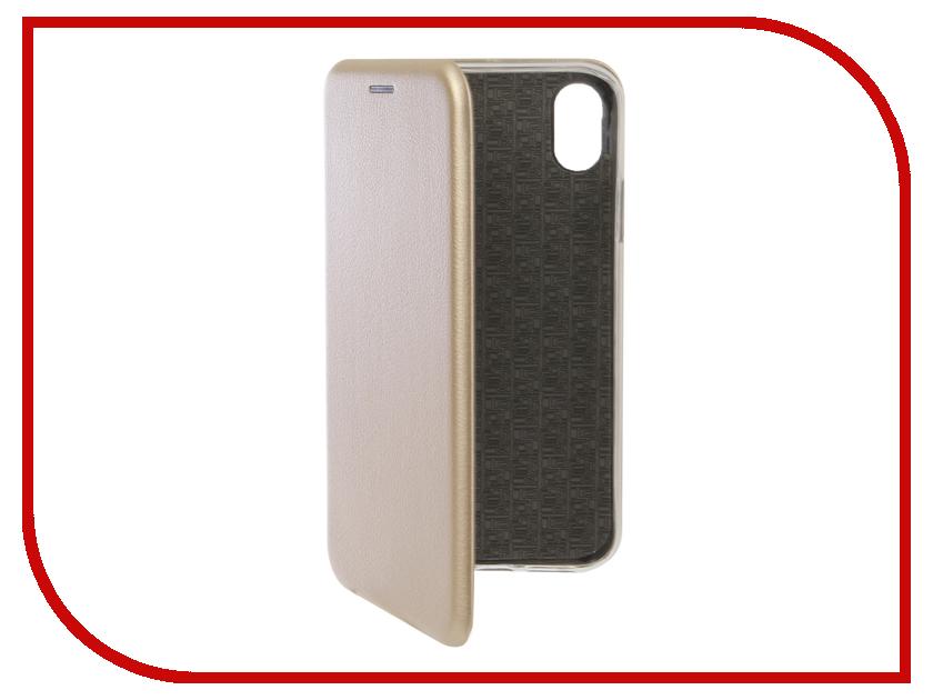 Аксессуар Чехол для APPLE iPhone XR Innovation Book Silicone Magnetic Gold 13360 чехол для apple iphone 8 7 silicone case white