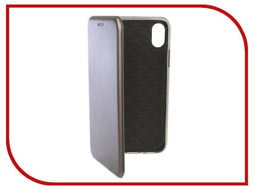 Аксессуар Чехол для APPLE iPhone XR Innovation Book Silicone Magnetic Silver 13362 аксессуар moizen magnetic charging cable 1 2m для iphone silver snap c1a 1 si