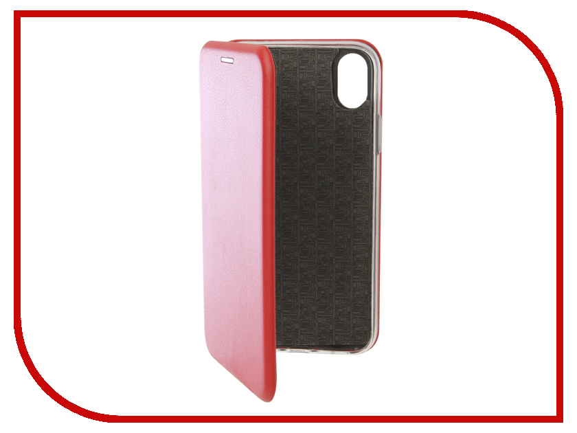 Аксессуар Чехол для APPLE iPhone XR Innovation Book Silicone Magnetic Red 13364 аксессуар чехол innovation ferrari для apple iphone 5 red