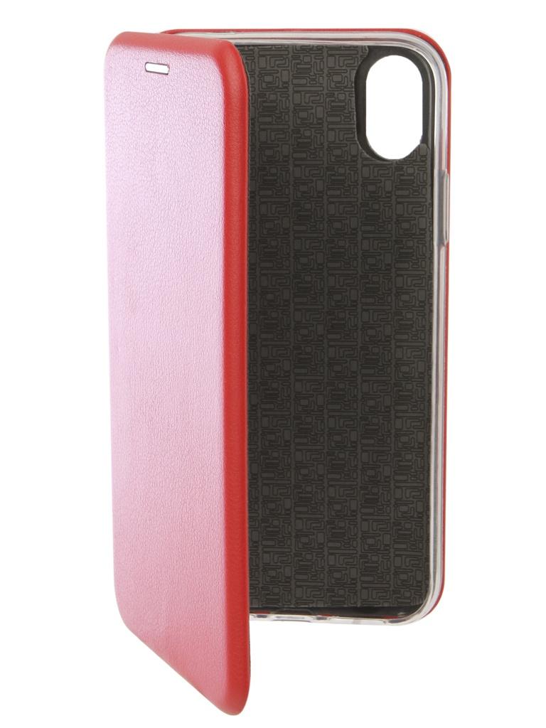 Аксессуар Чехол Innovation для APPLE iPhone XR Book Silicone Magnetic Red 13364 аксессуар чехол для apple iphone x innovation silicone case red 10302