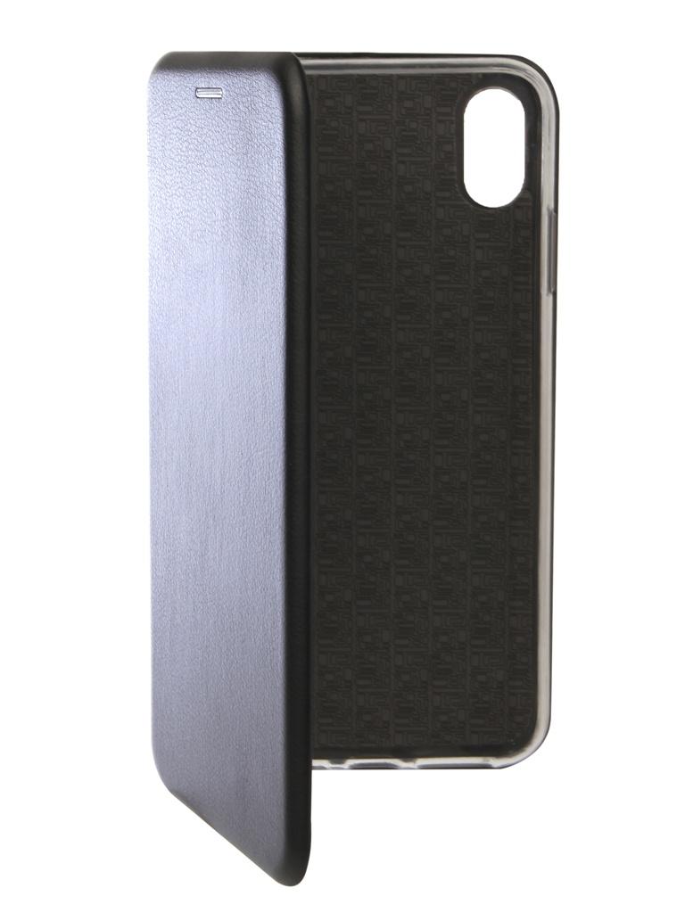 Аксессуар Чехол Innovation для APPLE iPhone XS Max Book Silicone Magnetic Black 13368 аксессуар чехол innovation для apple iphone xs max matte black 13319