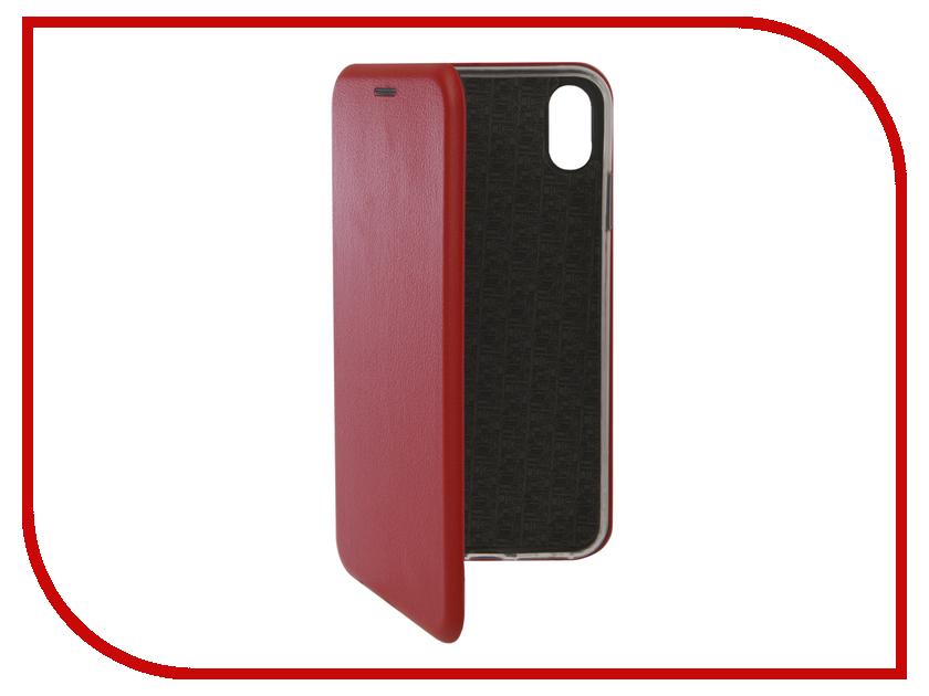 Аксессуар Чехол для APPLE iPhone XS Max Innovation Book Silicone Magnetic Red 13369 чехол для apple iphone 8 7 silicone case white