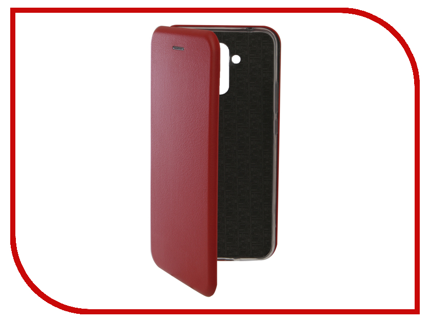 Аксессуар Чехол для Huawei Mate 20 Lite Innovation Book Silicone Magnetic Red 13381 аксессуар чехол книга для huawei p9 lite innovation book silicone gold 11510