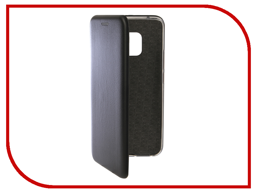 Аксессуар Чехол для Huawei Mate 20 Pro Innovation Book Silicone Magnetic Black 13385 аксессуар чехол для huawei p smart 7s innovation silicone pink 12840
