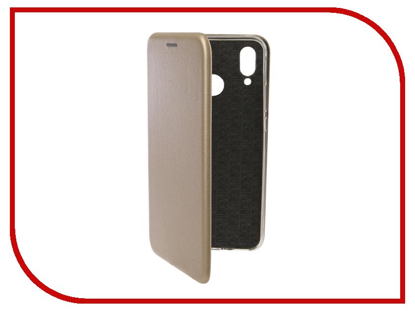 Аксессуар Чехол для Huawei Nova 3 Innovation Book Silicone Magnetic Gold 13392 аксессуар чехол для huawei p smart 7s innovation silicone pink 12840