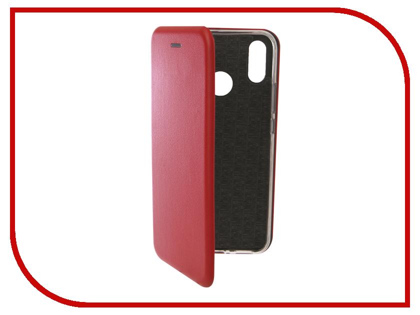 Аксессуар Чехол для Huawei Nova 3i Innovation Book Silicone Magnetic Red 13396 аксессуар чехол для huawei nova 3i gecko transparent white s g huahnova3i wh