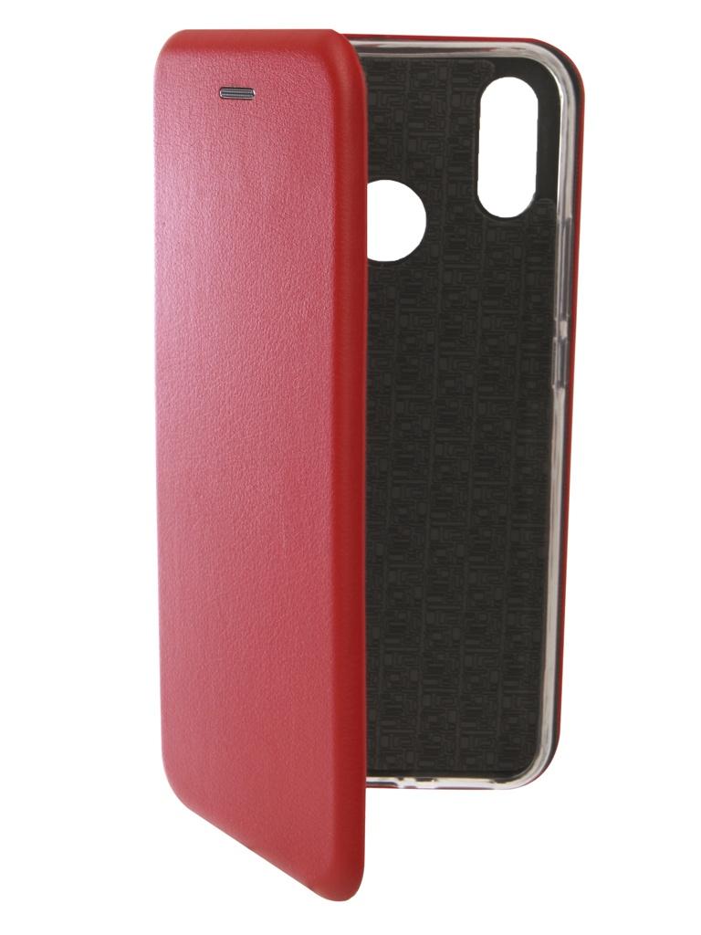 Аксессуар Чехол Innovation для Huawei Nova 3i Book Silicone Magnetic Red 13396 аксессуар чехол innovation для huawei 7a y5 prime book silicone magnetic red 12561