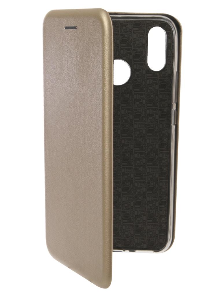Чехол Innovation для Huawei Nova 3i Book Silicone Magnetic Gold 13397
