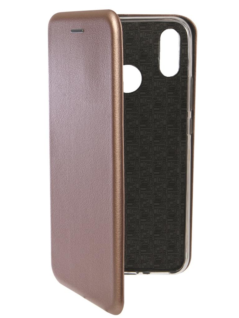 Чехол Innovation для Huawei Nova 3i Book Silicone Magnetic Rose Gold 13399