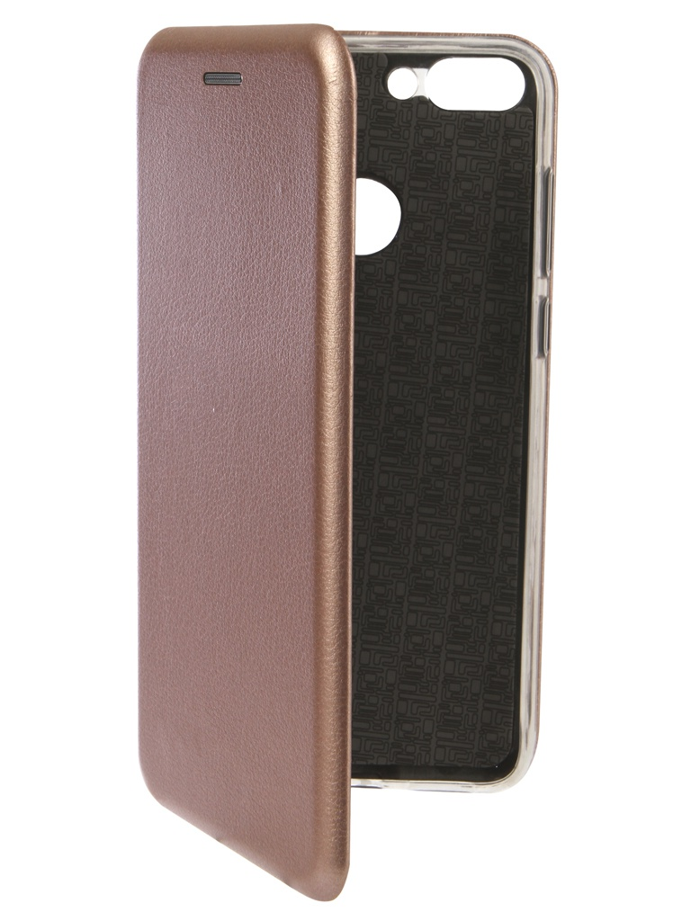 Чехол Innovation для Huawei P Smart Book Silicone Magnetic Rose Gold 13404